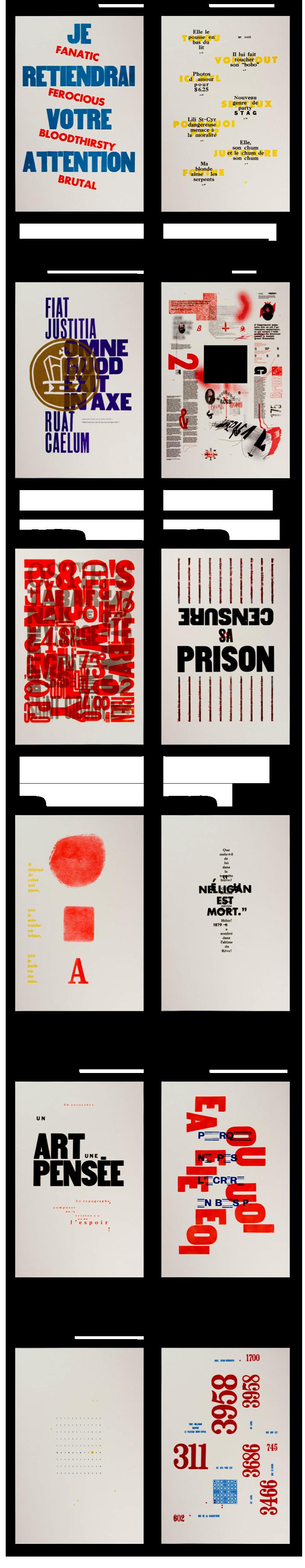 Créations graphique de l'UQAM - Judith Poirier