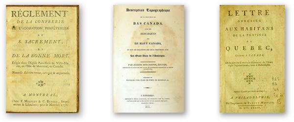 Premiers livres imprimés à Montréal